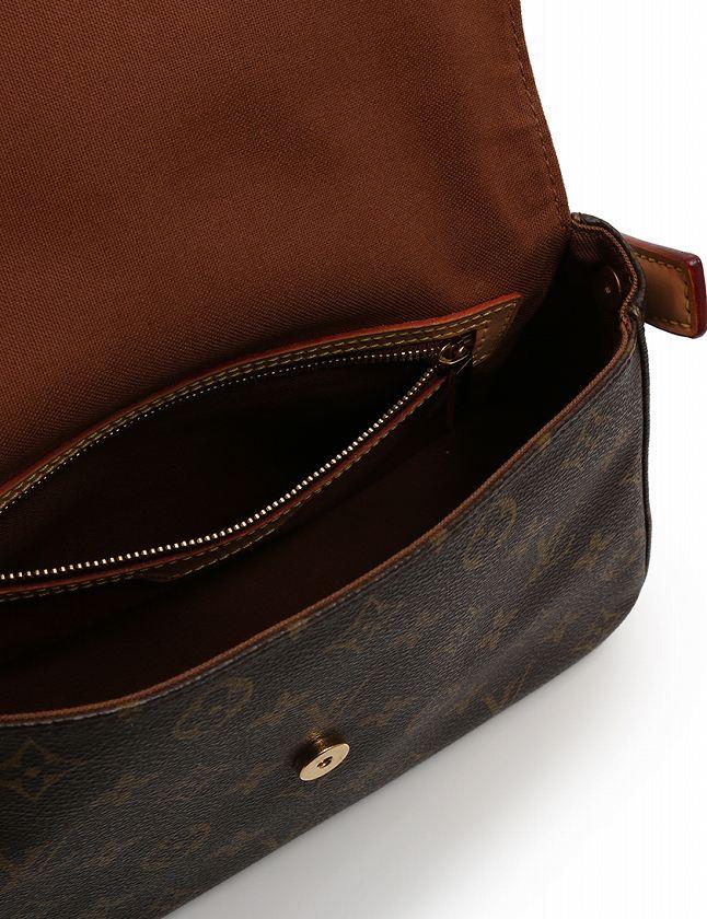 ルイヴィトン LOUIS VUITTON ショルダーバッグ ミニルーピング モノグラム 茶色 ブラウン PVC レザー M51147 保存袋付き レディース