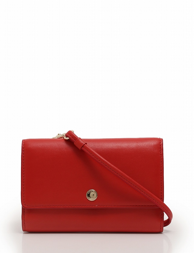 wholesale dealer dc6d8 ea9e9 コーチ COACH 財布 ショルダーウォレット ポシェット 赤 レッド 小物 レザー 63154 レディース