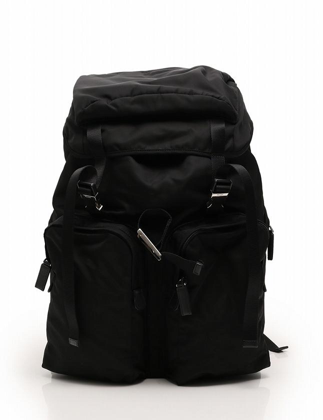 b32993a8c02a プラダ PRADA バックパック リュック 黒 ブラック ナイロン TESSUTO MONTAGN 2VZ065 ギャラ付き メンズ