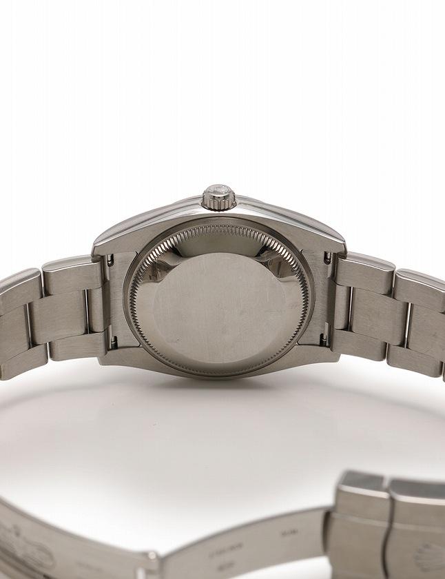 ロレックス ROLEX 腕時計 オイスター パーペチュアル シルバー ブルー文字盤 自動巻き SS サファイヤクリスタル 114200 箱 ケース ギャラ付き メンズ