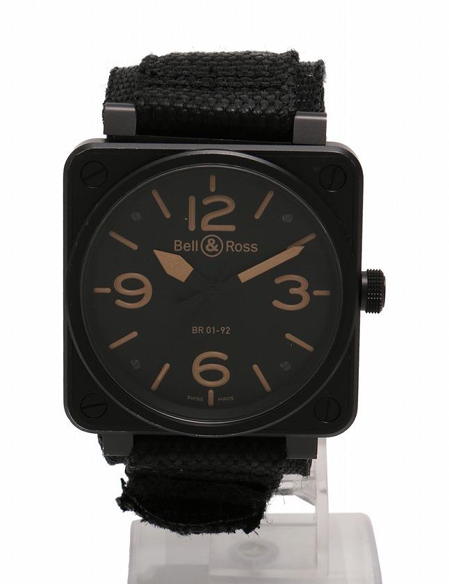 ベルアンドロス Bell&Ross 腕時計 ヘリテージ 黒 ベージュ 自動巻き SS ...
