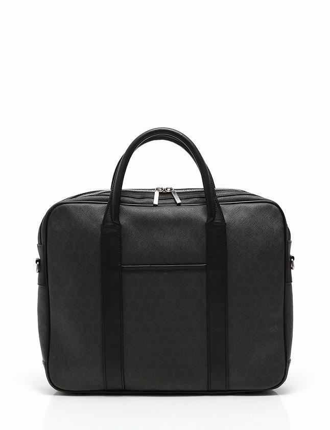 2faae23597bb ダンヒル dunhill ブリーフケース ビジネスバッグ ショルダーバッグ 黒 ブラック PVC レザー 保存袋付き 2WAY メンズ