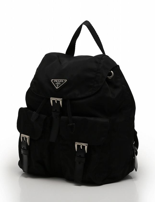 6ff3e180b93c プラダ PRADA リュック バックパック 黒 ブラック ナイロン レザー レディース ...