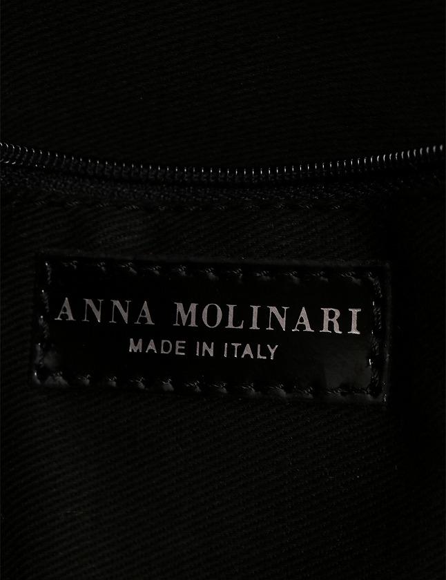 964655dcd6bd ... アンナモリナーリ ANNA MOLINARI ハンドバッグ トートバッグ 白 黒 赤 てんとう虫 キャンバス エナメル 保存袋 ...