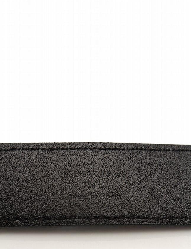 ルイヴィトン LOUIS VUITTON ベルト 革ベルト モノグラム マルチカラー ノワール ブラック 黒 水色 小物 ベルト PVC レザー M9732 箱 保存袋付き レディース