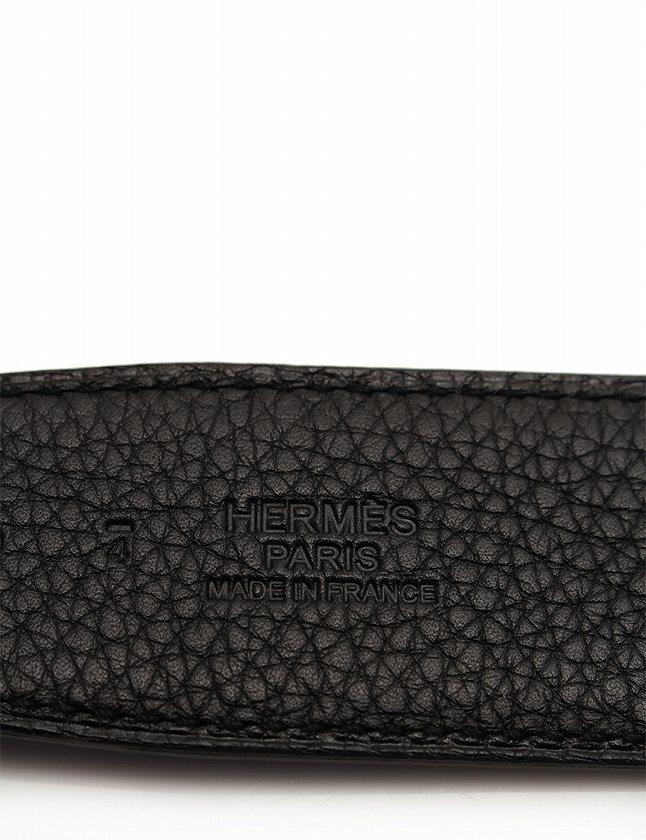 エルメス HERMES ベルト 革ベルト コンスタンス H 黒 ブラック ゴールド □N刻印 小物 85 ボックスカーフ トゴ リバーシブル 箱付き メンズ