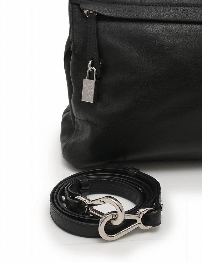 807aa9345a24 ... フルラ FURLA ハンドバッグ ショルダーバッグ パイパー 黒 ブラック シルバー スタッズ レザー メタル PIPER 保存袋 カデナ