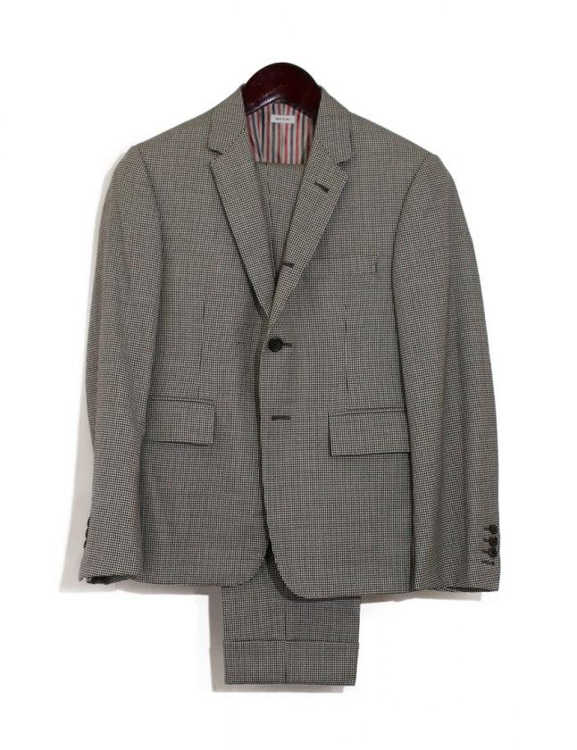 48b929fc81ae5 トムブラウン THOM BROWNE スーツ ジャケット パンツ 黒 白 0 長袖 千鳥格子柄 XS MSC001A-00034980 ウール  CLASSIC SUIT HOUNDSTOOTH メンズ