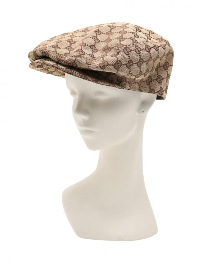 on sale 5a393 d8649 グッチ GUCCI ハンチング 帽子 GGキャンバス ベージュ 茶 小物 キャンバス レザー レディース