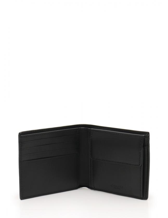 37814b792b4d ... コーチ COACH 財布 二つ折り シグネチャー 黒 小物 レザー F75363 メンズ
