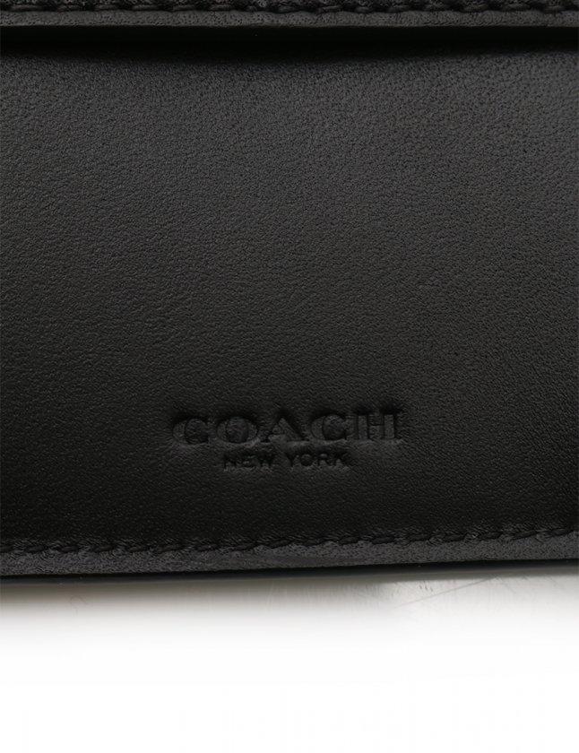 fe3518480705 コーチ COACH 財布 二つ折り シグネチャー 黒 小物 レザー F75363 メンズ ...