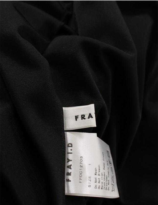 フレイアイディー FRAY I.D ワンピース フラワージャガード 黒 ネイビー 1 ノースリーブ ミニ丈 花柄 M コットン レディース