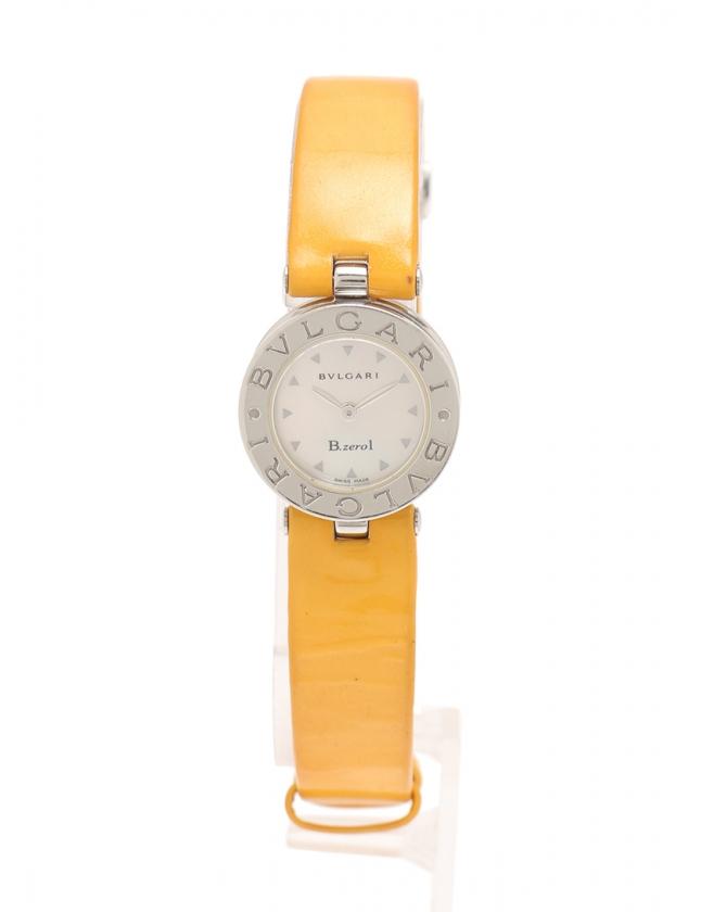 f9aaf2cdb147 ブルガリ BVLGARI 腕時計 クオーツ ビーゼロ1 シルバー 黄 BZ22C1SL SS エナメルレザー ガラス シェル シェル文字盤  B.zero1 レディース