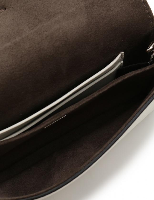 フェンディ FENDI チェーンハンドバッグ ポシェット モンスター マイクロバゲット 白 緑 8M0354 レザー ファー 2WAY ビジュー レディース