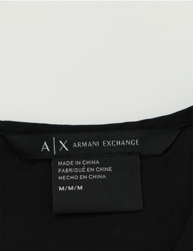 アルマーニエクスチェンジ A/X ARMANI EXCHANGE ブラウス タンクトップ 黒 M トップス ノースリーブ ボーダー コットン レディース