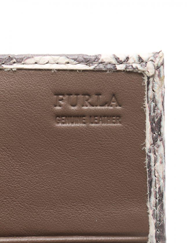 size 40 aa96c 8cef2 フルラ FURLA 二つ折り長財布 アイボリー グレー 小物 レザー L字ファスナー VVM CLASSIC レディース