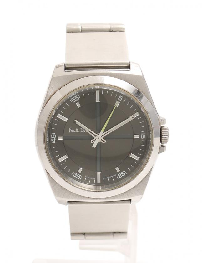 reputable site 04be3 a080b ポールスミス PAUL SMITH クオーツ クローズドアイズ 腕時計 メンズ シルバー 6038-H24741TA SS メンズ