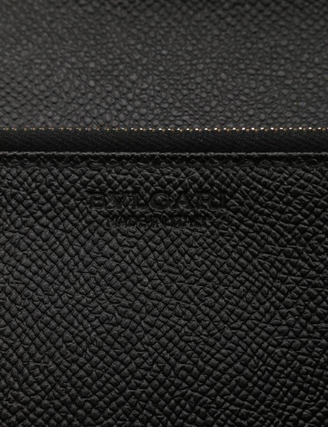 f714769febbd ブルガリ BVLGARI 二つ折り長財布 クラシコ 黒 小物 レザー メンズ 114 ...
