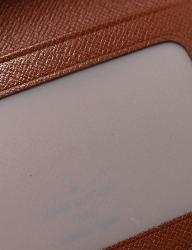 ルイヴィトン LOUIS VUITTON カードケース パスケース ポルト 2カルト モノグラム 茶 小物 PVC M60533 メンズ レディース