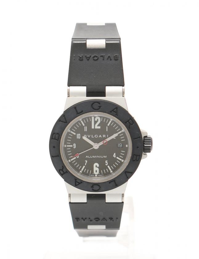 competitive price 02fbd 1909e ブルガリ BVLGARI 腕時計 アルミニウム レディース 黒 シルバー AL29TA アルミニウム ラバー レディース