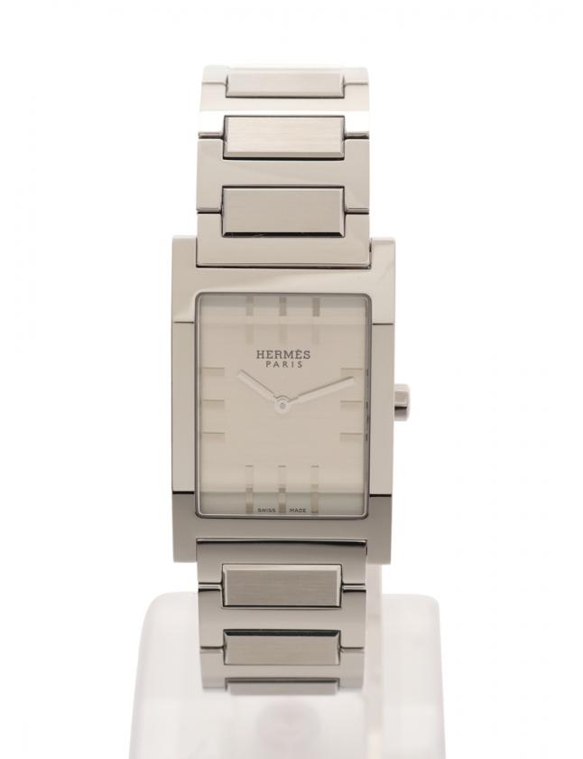 designer fashion f7b78 0266c エルメス HERMES 腕時計 タンデム クオーツ シルバー TA1.710 SS シルバー文字盤 メンズ
