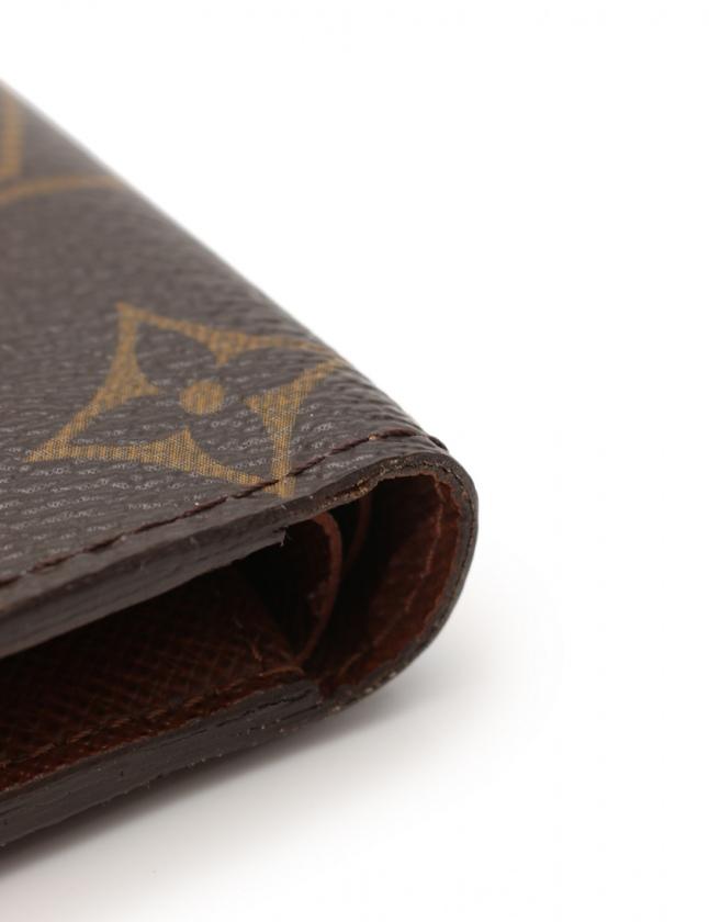best authentic 8cce3 c7828 ルイヴィトン LOUIS VUITTON 二つ折り財布 ポルトフォイユ マルコ モノグラム 茶 小物 PVC M61675 メンズ レディース