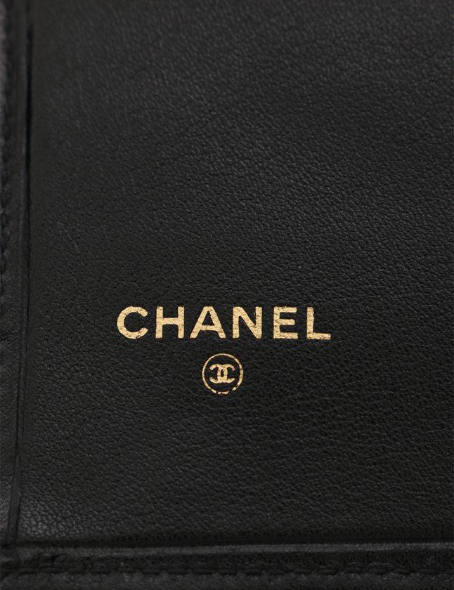 7f155911c098 シャネル CHANEL 二つ折り長財布 ビコローレ 黒 小物 レザー がま口 レディース ...