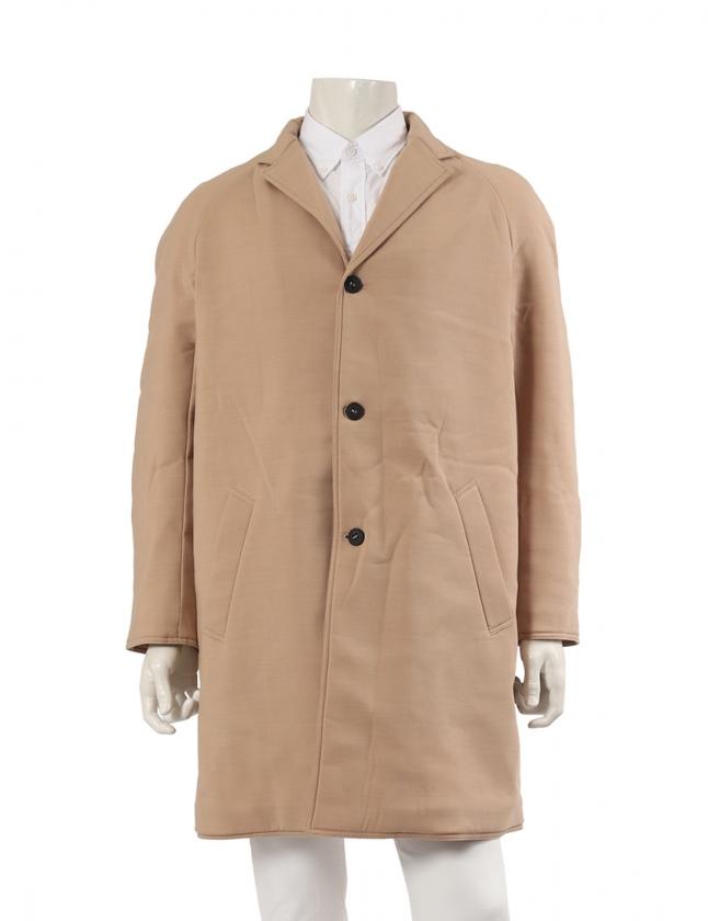 low priced 078e1 b6810 エンポリオアルマーニ EMPORIO ARMANI ロングコート ボンディング ベージュ 48 アウター 無地 S メンズ