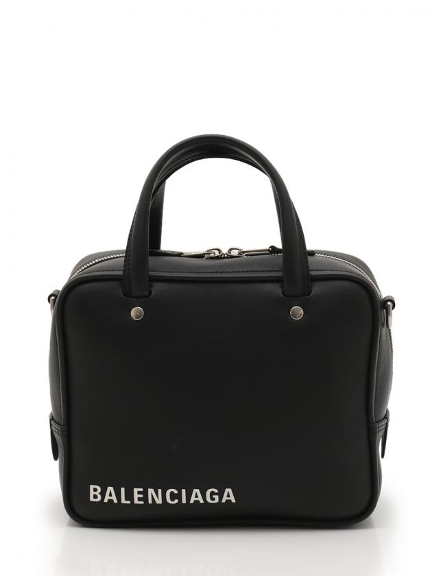eb25fa633b01 バレンシアガ BALENCIAGA ハンドバッグ ショルダーバッグ トライアングル スクエアXS 黒 528544 レザー 2WAY レディース