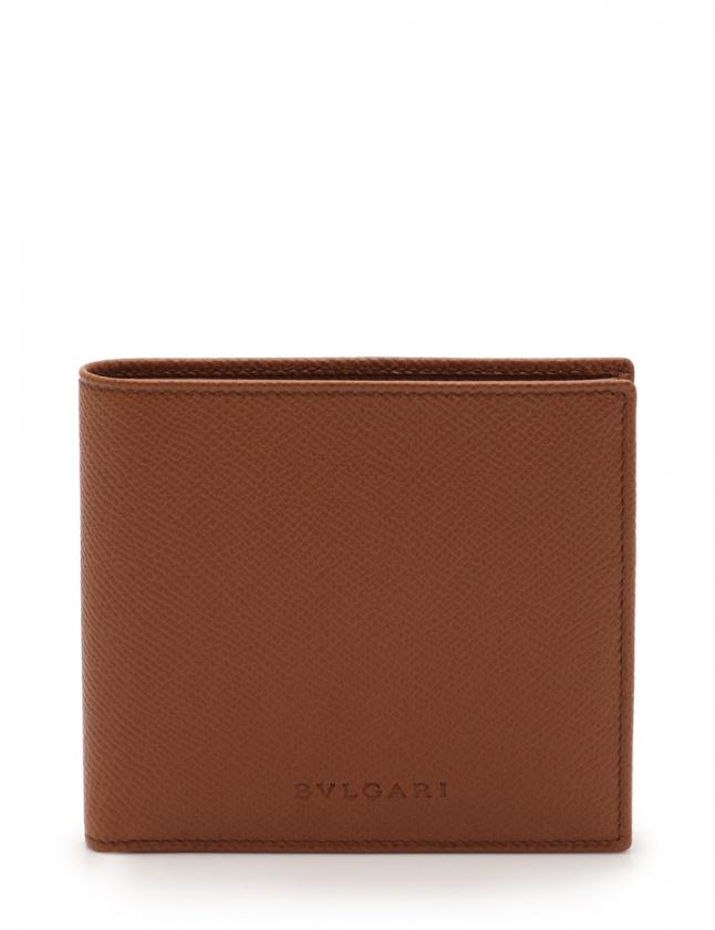 online retailer ff438 7d71c ブルガリ BVLGARI 二つ折り財布 茶 小物 レザー メンズ