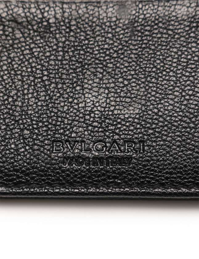 check out 8095d ee12c ブルガリ BVLGARI カードケース 名刺入れ ブルガリブルガリ 黒 小物 レザー メンズ レディース