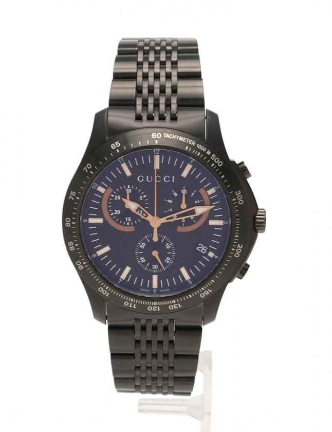 sale retailer 5aed4 2009c グッチ GUCCI クオーツ Gタイムレス クロノ 腕時計 メンズ 黒 126.2 YA126260 SS(PVD) メンズ