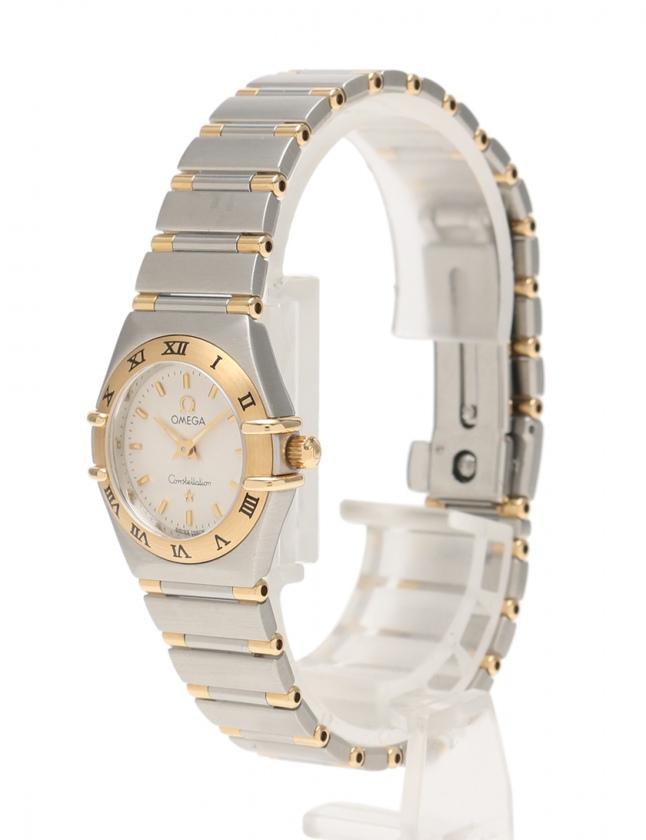 get cheap a2697 6c993 オメガ OMEGA クオーツ コンステレーション ミニ 腕時計 レディース シルバー イエローゴールド 1262.30 SS K18YG 白文字盤  レディース