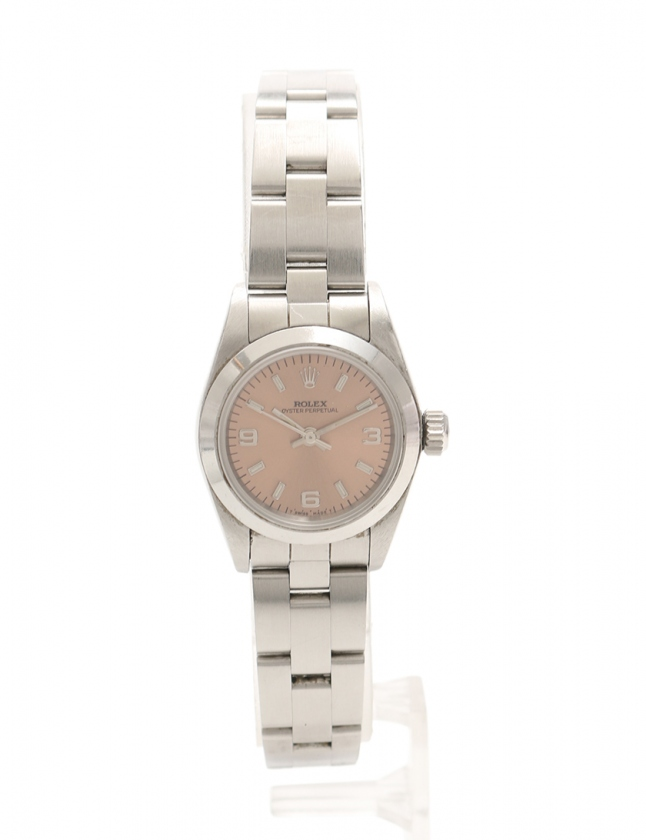wholesale dealer ab42d 30211 ロレックス ROLEX 腕時計 オイスターパーペチュアルデイト 自動巻き シルバー 67180 SS ピンク文字盤 レディース
