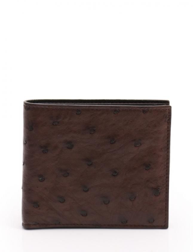 super popular cdffc 79554 プラダ PRADA 二つ折り財布 STRUZZO 茶 小物 オーストリッチ 2M0738 メンズ レディース