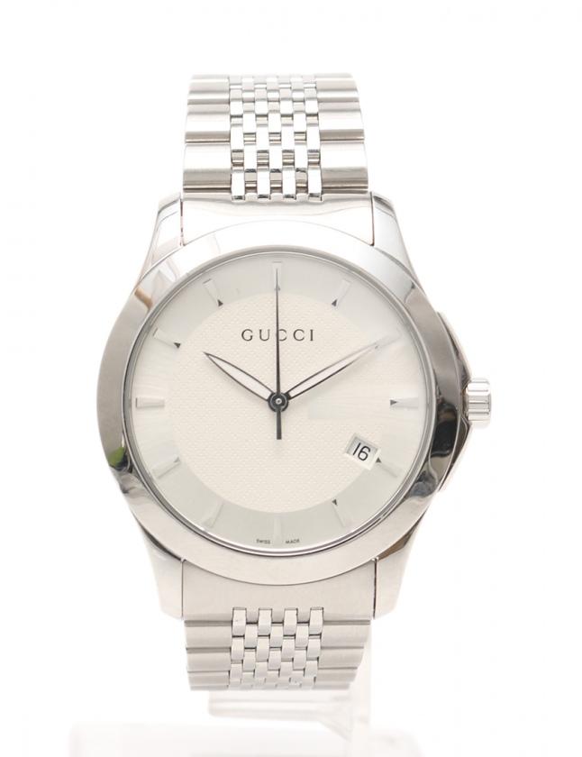 quality design 60fcc 645cc グッチ GUCCI 腕時計 Gタイムレス メンズ 腕時計 シルバー YA126417 126.4 SS アイボリー文字盤 メンズ