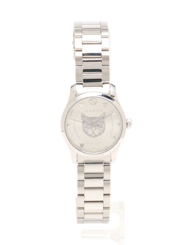 b9ba260a681f グッチ GUCCI 腕時計 G-タイムレス レディース シルバー 530242 YA126595 126.5 SS キャットヘッドモチーフ レディース