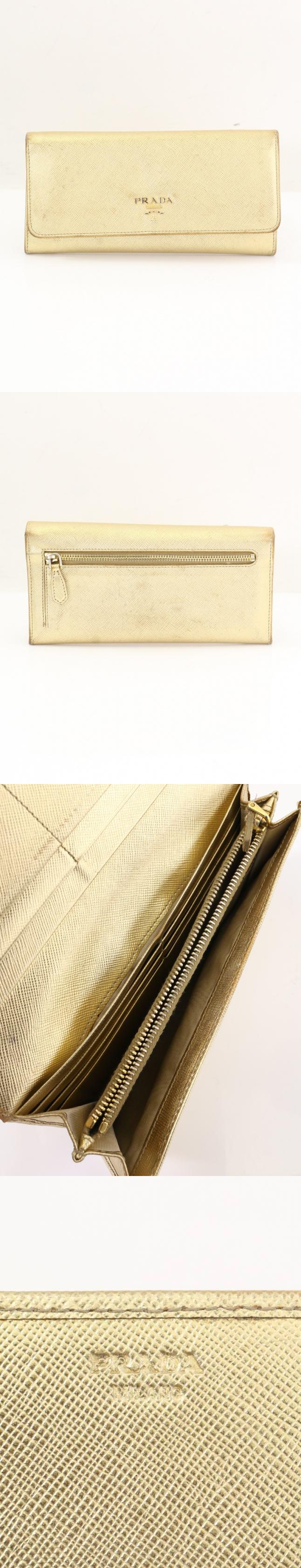 b37f4778be73 Prada PRADA folding in half long wallet gold small articles safia-no ...