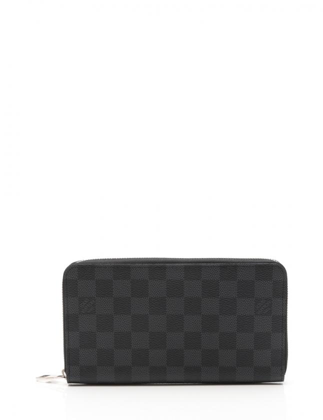 lowest price b5a34 d2524 ルイヴィトン LOUIS VUITTON ラウンドファスナー長財布 ジッピーオーガナイザー ダミエグラフィット 黒 小物 PVC N63077 メンズ