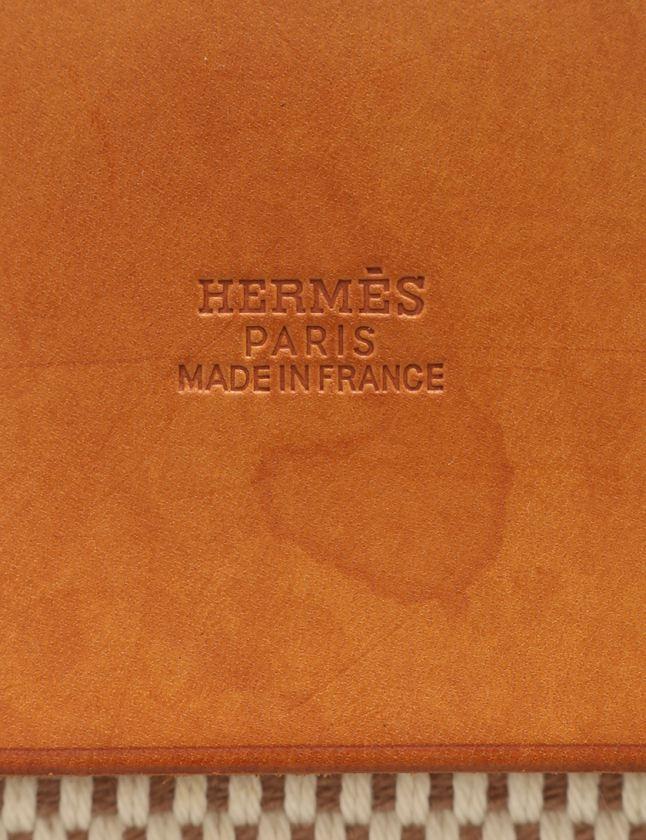 e8b51a9dc1c7 ... エルメス HERMES トートバッグ エールバッグ カバスGM ベージュ ライトブラウン トワルGM ボックスカーフ ...
