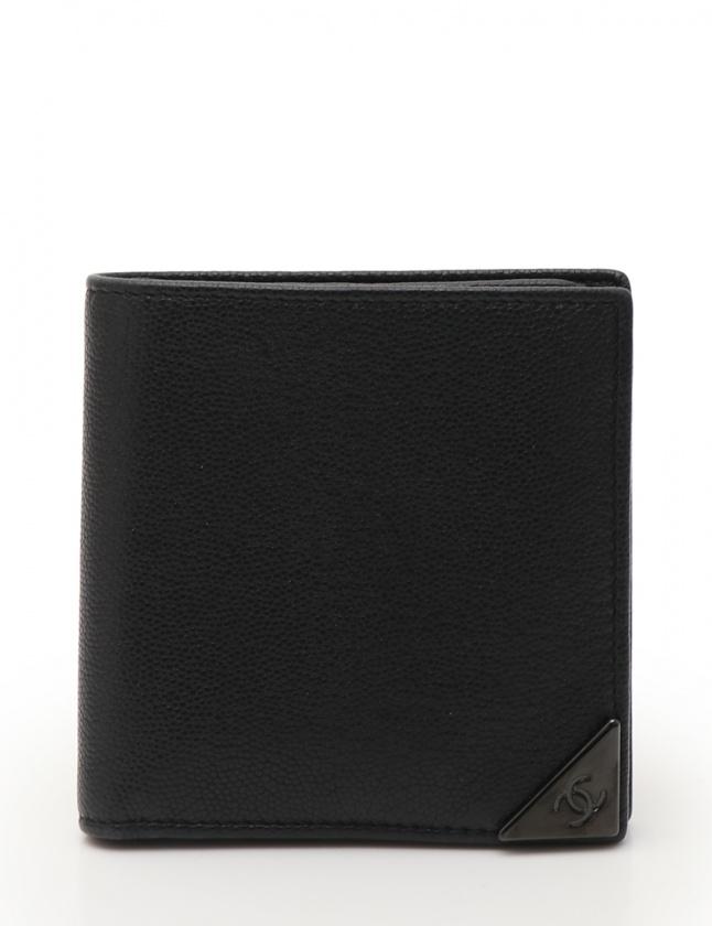 promo code 0a53c 1a738 シャネル CHANEL 二つ折り財布 ココマーク 黒 小物 レザー メンズ レディース