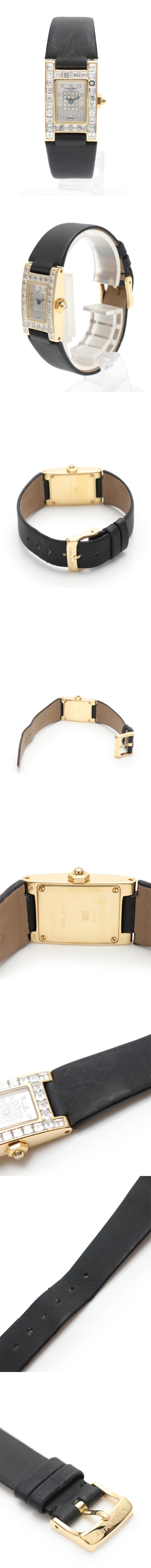 腕時計 スティル ドゥ ショーメ レディース イエローゴールド K18YG バケットダイヤモンド