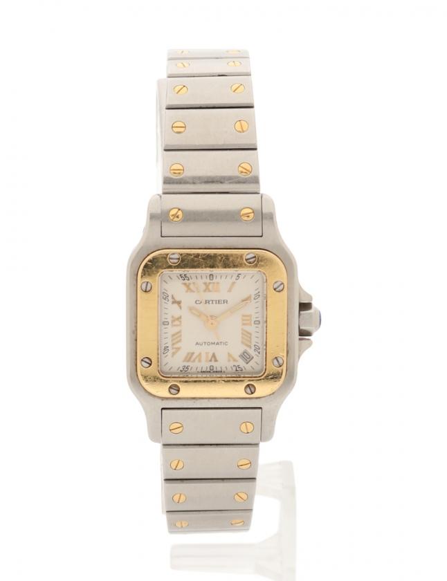 d7575fef33 カルティエ Cartier クオーツ サントスガルベ レディース 腕時計 シルバー イエローゴールド W20045C4 SS×K18YG 白文字盤  20周年記念モデル レディース