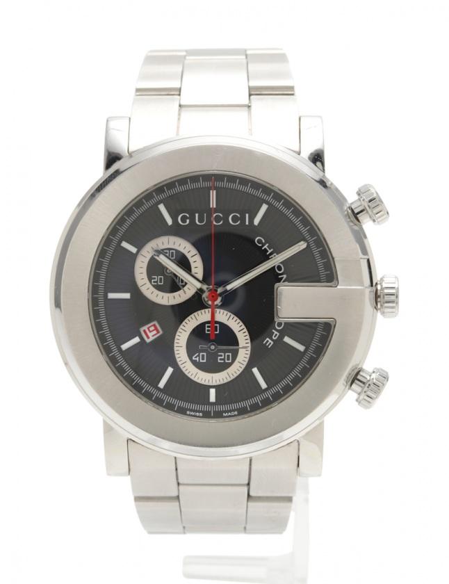 7c0bc46bde56 グッチ GUCCI メンズ 腕時計 クオーツ Gフェイス シルバー 101M SS メンズ