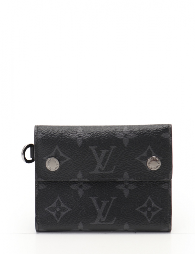 the best attitude 8ce97 03057 ルイヴィトン LOUIS VUITTON 三つ折り財布 チェーンコンパクト ...