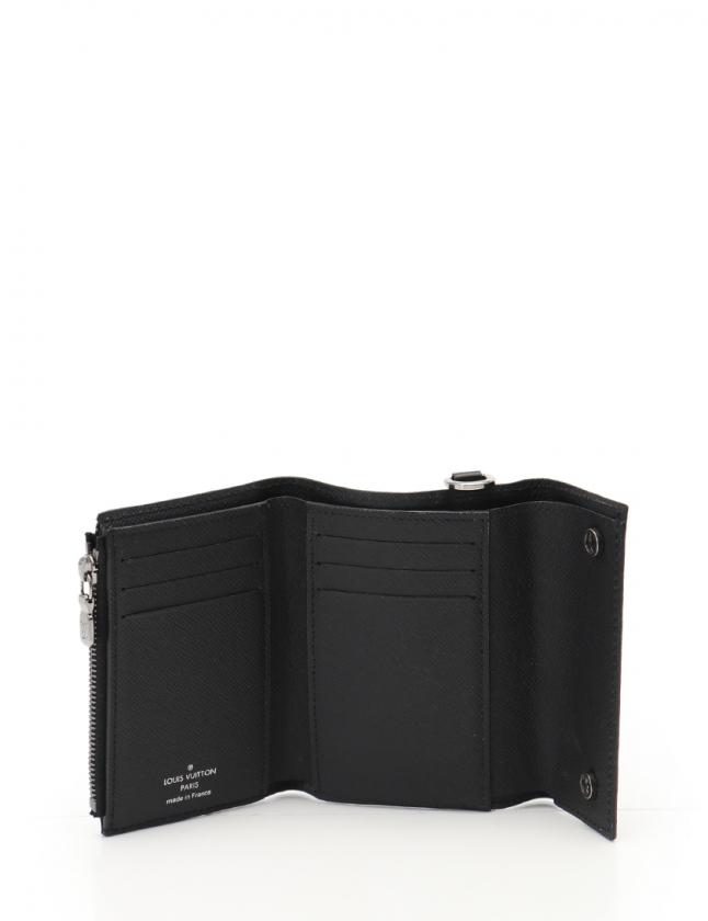 innovative design 333f5 b0c0e ルイヴィトン LOUIS VUITTON 三つ折り財布 チェーンコンパクトウォレット モノグラムエクリプス 黒 小物 PVC M63510 メンズ