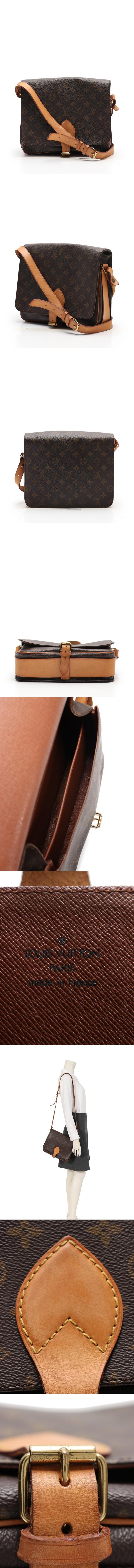 ショルダーバッグ カルトシエールGM モノグラム 茶 M51252 PVC レザー
