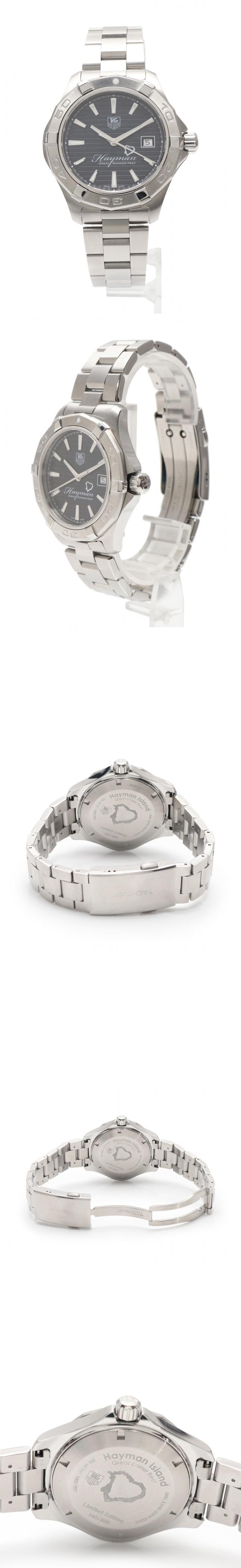 腕時計 アクアレーサー メンズ シルバー WAP201Y SS 800本限定 ブラック文字盤 ヘイマンアイランド
