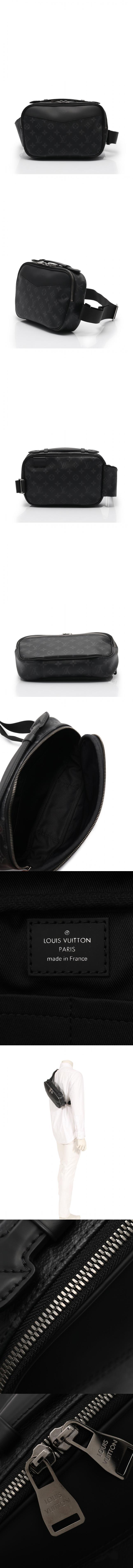 ボディバッグ ウエストポーチ バムバッグ モノグラムエクリプス 黒 M42906 PVC レザー