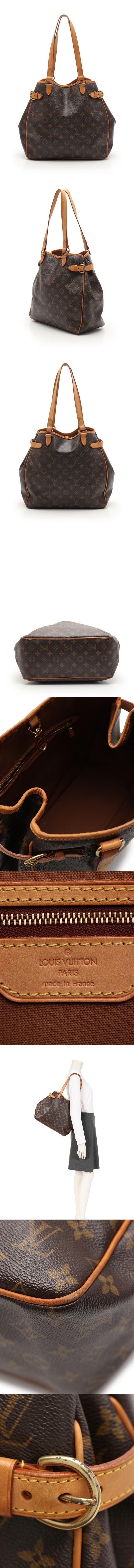 トートバッグ バティニョール ヴェルティカル モノグラム 茶 M51153 PVC レザー